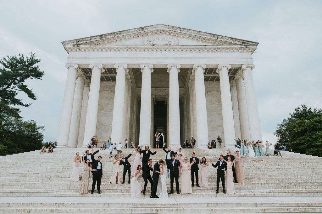 Jefferson Memorial Washington DC Wedding