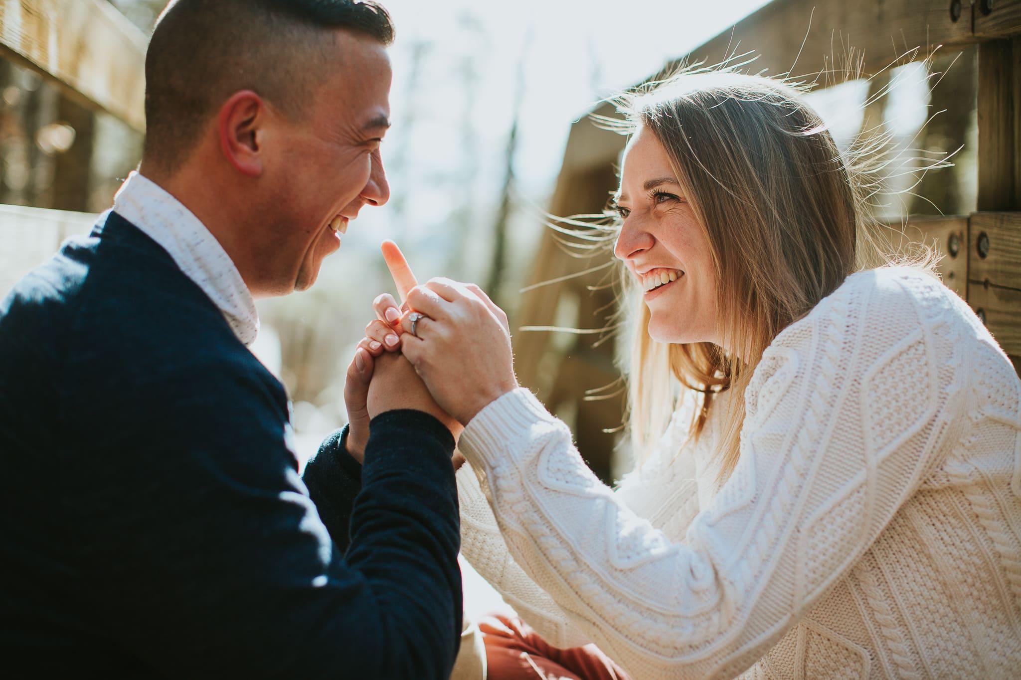 Snowshoe Engagement Photos