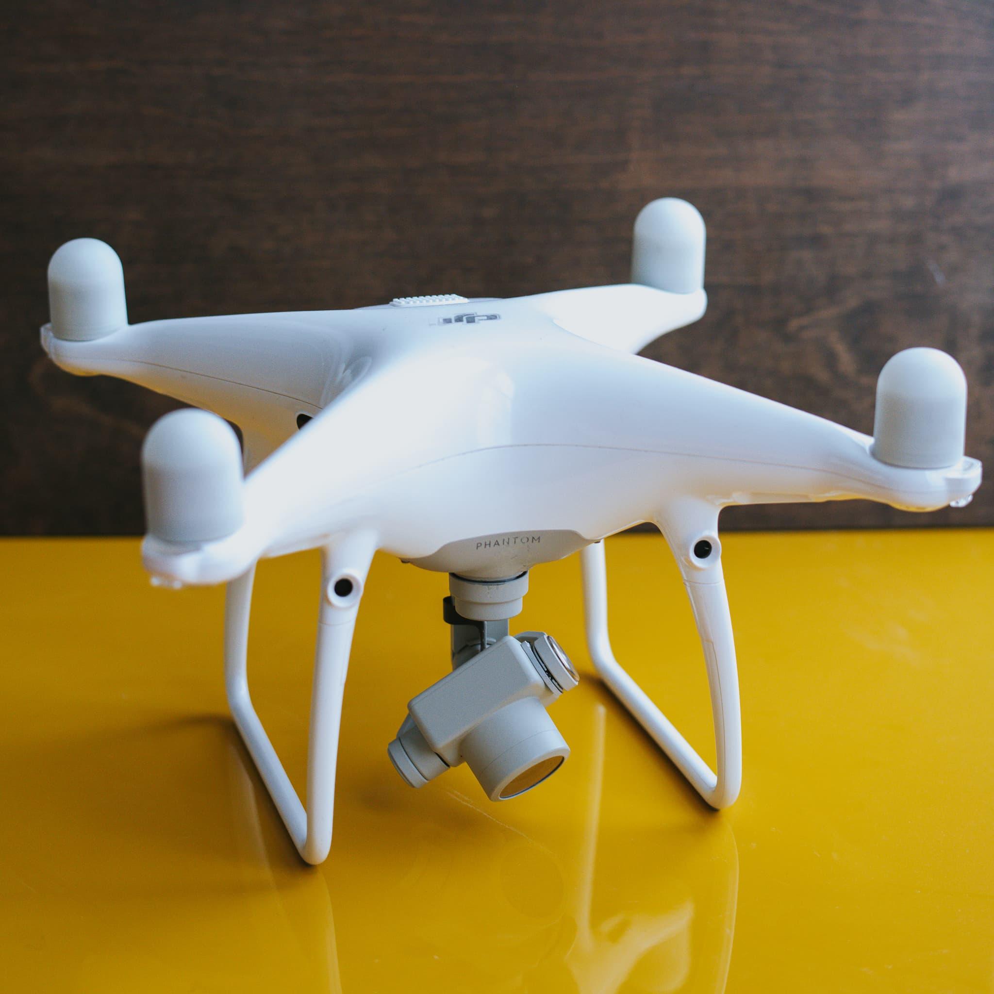 dji phantom 4 pro drone light painting