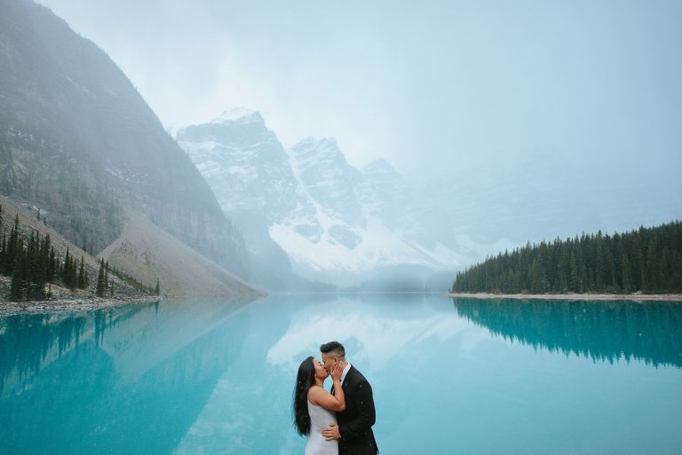 Moraine Lake and Lake Louise Engagement Photos | Banff National Park