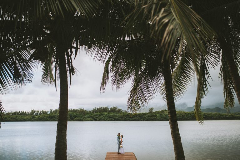 Kualoa Ranch Wedding – Moli'i Gardens – Oahu, Hawaii
