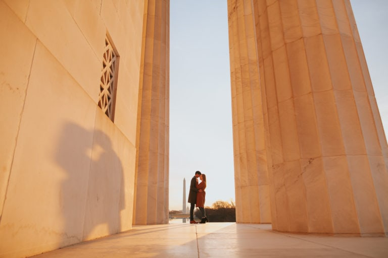 Lincoln Memorial Engagement Photos – Washington DC