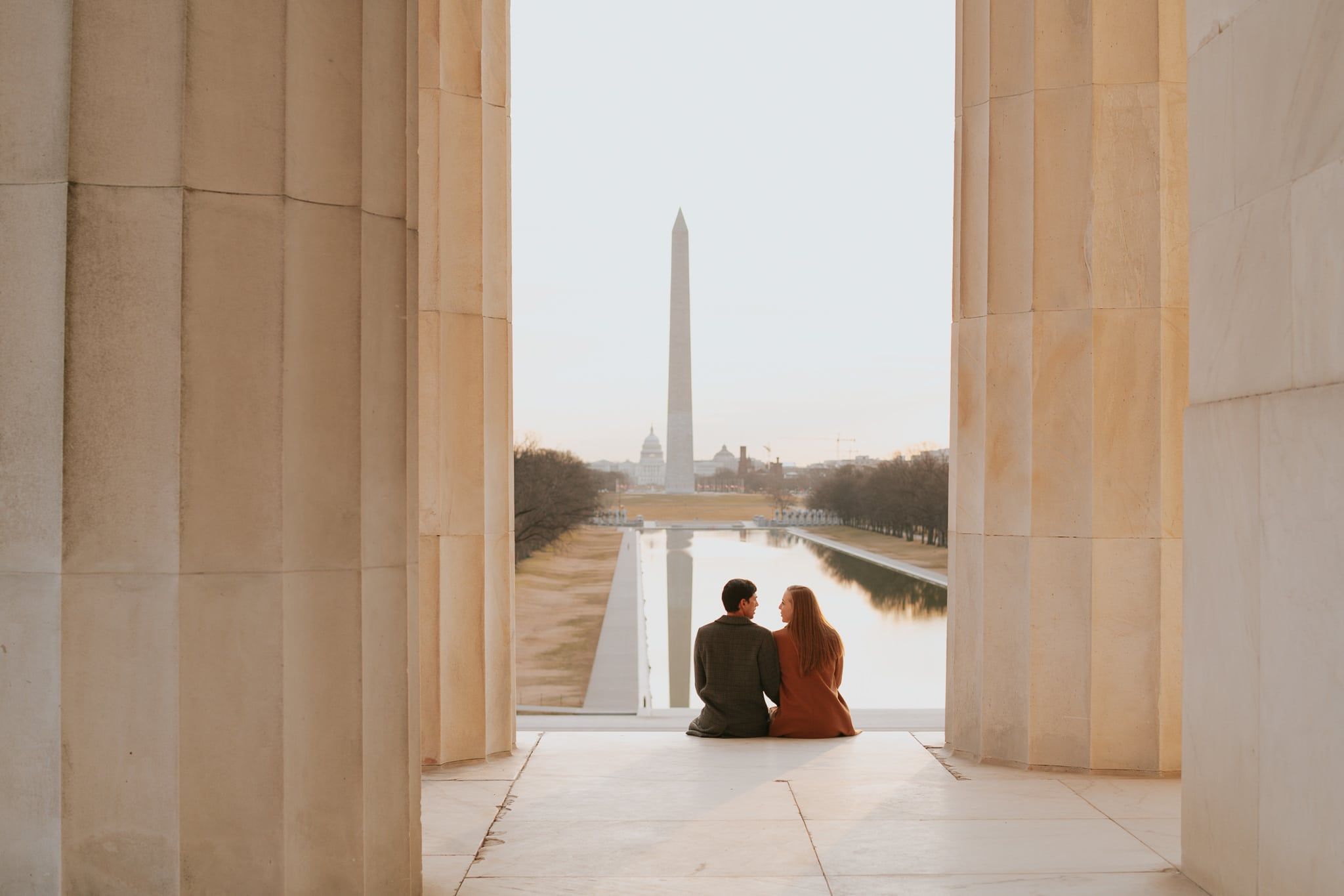 Lincoln Memorial Engagement in Washington DC